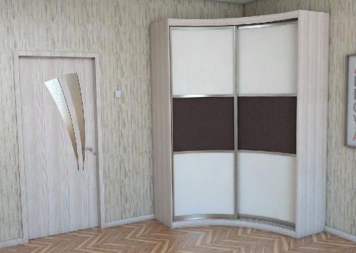 Шкаф-купе радиусный 4
