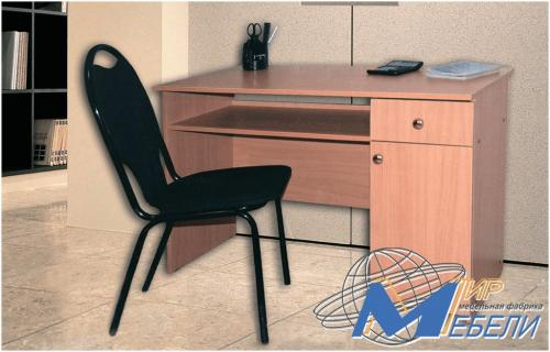 Письменный стол. Габаритные размеры 1.1х0.74х0.56м