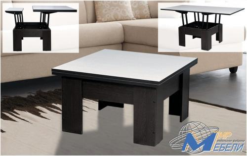 Стол трансформер. Габаритные размеры 0.83х0.815(1.63)х0.48(0.81)м